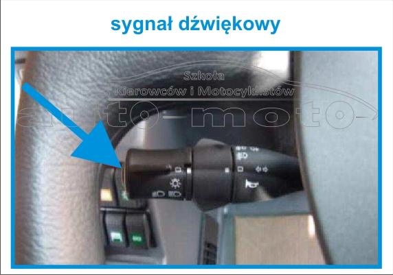 sygnał dźwiękowy klakson  AUTOBUS AUTOSAN A10-10T.07.01 A1010T egzamin na prawo jazdy kat. D