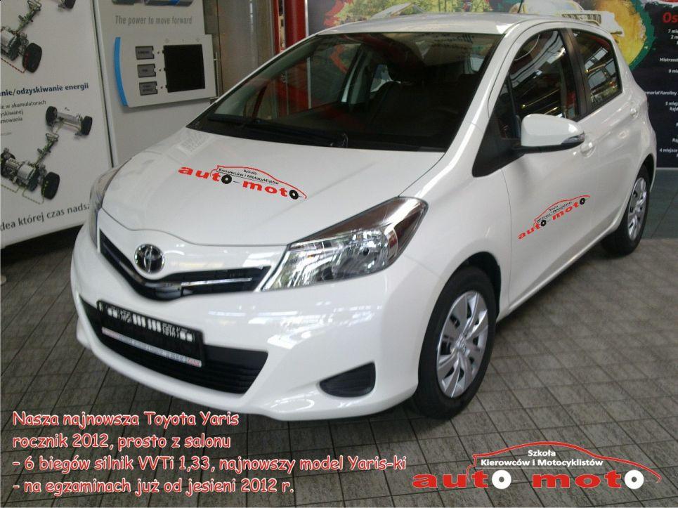 Toyota Yaris rocznik 2012  biegów silnik VVTi 1,33