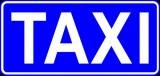 D-19 Postój taksówek. Oznacza miejsce przeznaczone na postój taksówek osobowych, z wyjątkiem taksówek zajętych. Umieszczony na znaku napis
