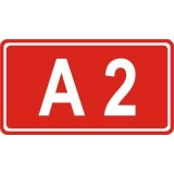 E-15c Numer autostrady. Wskazuje numer i rodzaj (kategorię) drogi