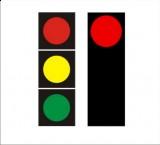S-1 sygnał czerwony Sygnalizator podstawowy - sygnał czerwony. Oznacza zakaz wjazdu za sygnalizator