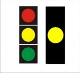 S-1 sygnał żółty Sygnalizator podstawowy - sygnał żółty. Oznacza zakaz wjazdu za sygnalizator, chyba że w chwili zapalenia tego sygnału pojazd znajduje się tak blisko sygnalizatora, że nie może być zatrzymany przed nim bez gwałtownego hamowania; sygnał ten oznacza jednocześnie, że za chwilę zapali się sygnał czerwony