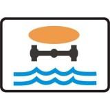 Tabliczka T-23j Dotyczy pojazdów z materiałami, które mogą skazić wodę. Umieszczona pod znakiem B-25 tabliczka T-23j wskazuje, że zakaz wyprzedzania dotyczy kierującego pojazdem z materiałami, które mogą skazić wodę