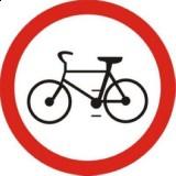 B-9 Zakaz wjazdu rowerów. Oznacza zakaz ruchu rowerów na jezdni i poboczu